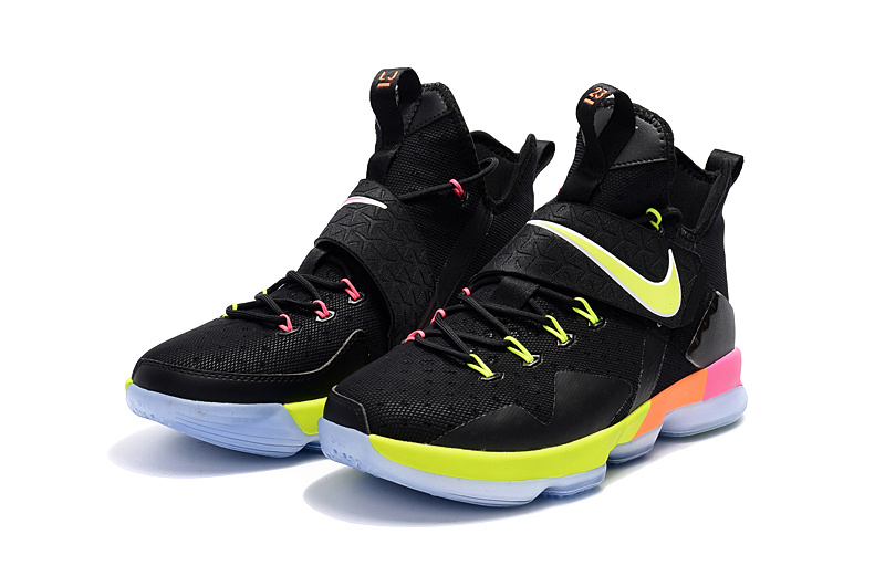 great fit f97f6 8cf69 ... where to buy nike lebron 14 black rainbow new year deals 93f0f 3f10c