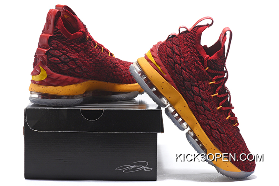 cheap for discount ac422 b1c15 Nike LeBron 15 Burgundy Yellow Best