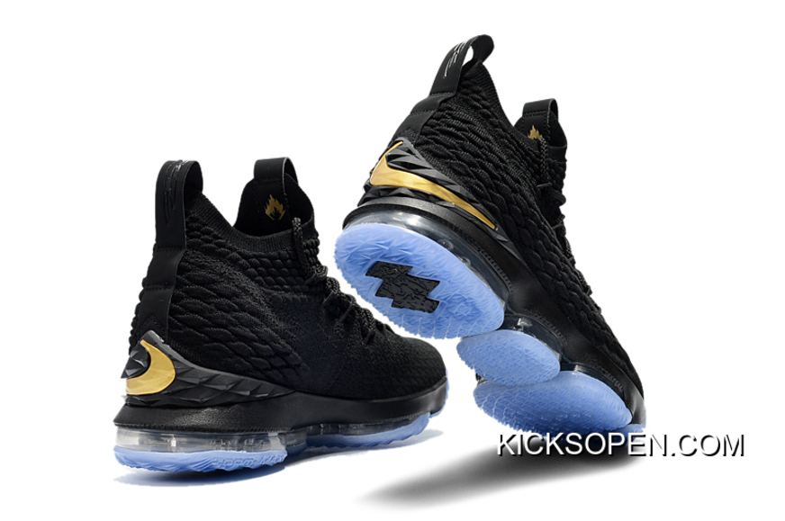 7caff549978 Nike LeBron 15 Black Metallic Gold Best