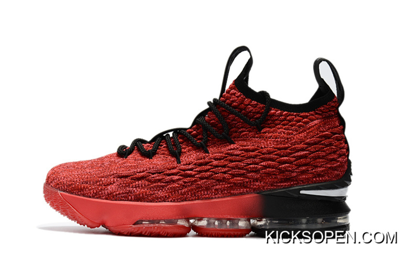 a2fd30e1b92 Nike LeBron 15 PE Red And Black Online