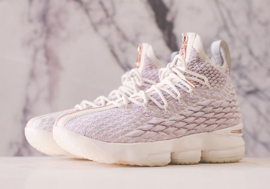 "fef9f0be1f43 For Sale KITH X Nike LeBron 15 ""Rose Gold"""