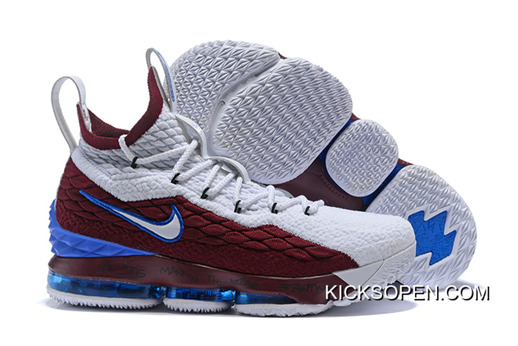 9d56753f004 coupon code for nike lebron 15 first game azg cavs white red blue super  deals 29ae5