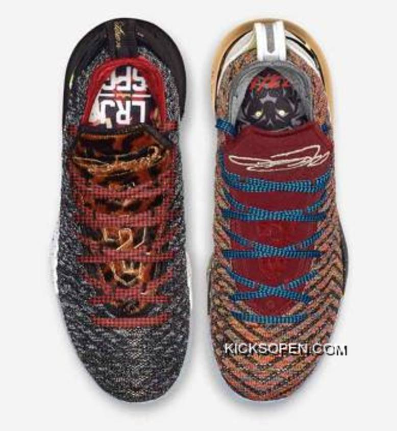 """competitive price 9d599 7d1e6 What The Nike LeBron 16 """"1 Thru 5"""" Multi-Color BQ6580-900 New Release"""
