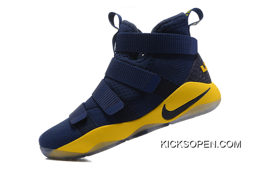 74208f89d74 Nike LeBron Soldier 11 Navy Blue Yellow-Black Discount