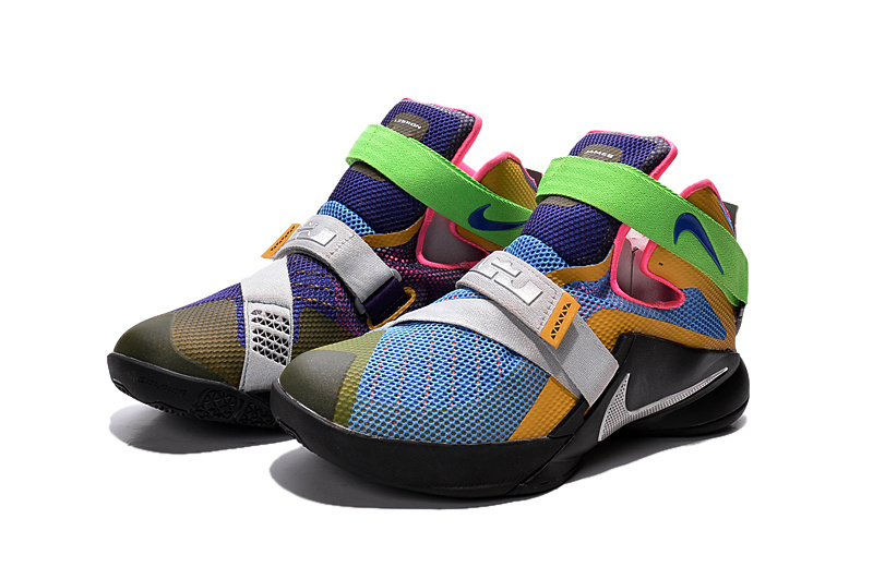 """fe95398531cb For Sale Nike LeBron Soldier 9 """"What The LeBron"""" Multi Color Black ..."""