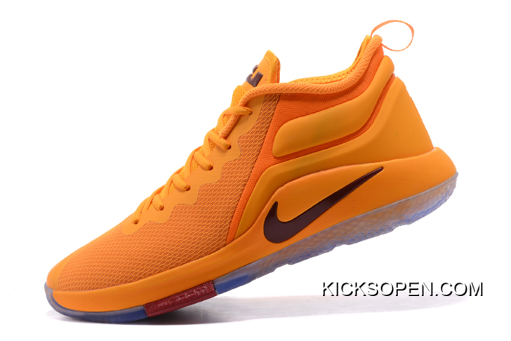 "1d05c8c2679 Discount Nike LeBron Zoom Witness 2 ""Cavs"" Yellow Basketball Shoes ..."