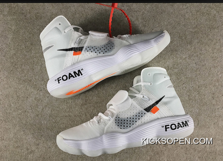9f8c9db36efe Off-White X Nike React Hyperdunk 2017 Flyknit White AJ4578-100 Top Deals
