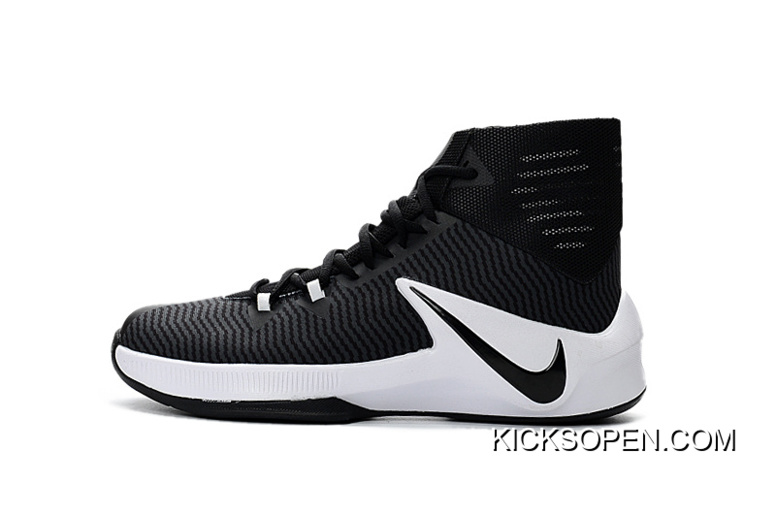release date 220f3 9f1af Nike Zoom Clear Out Black White Basketball Shoes For Sale, Price ...