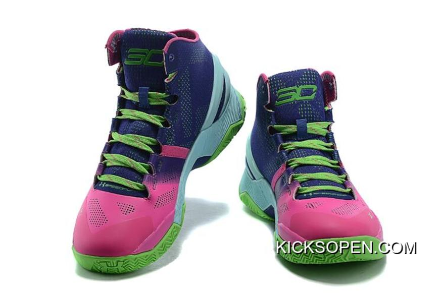 """size 40 4c490 9ac24 Super Deals Under Armour Curry 2 """"Northern Lights"""" Rebel Pink Purple Panic-"""