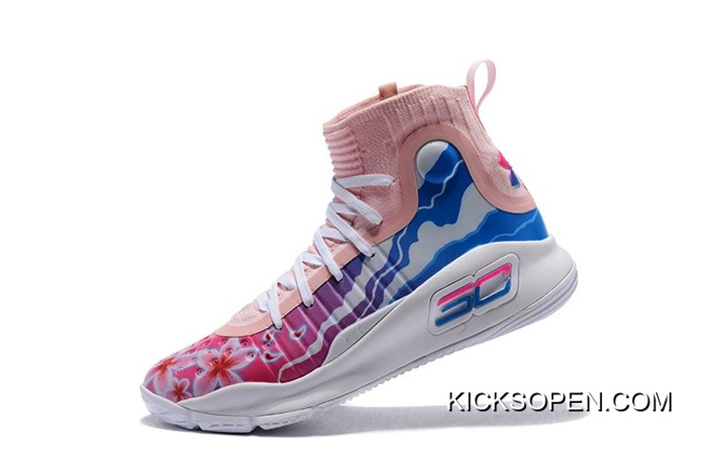 "9ae2638b552e Online Under Armour Curry 4 ""Floral"" White Pink Blue"