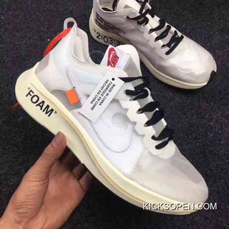 7ebbc101ae4 Women Off White X Nike Zoom Fly SP Sneakers SKU 156128-206 Super Deals